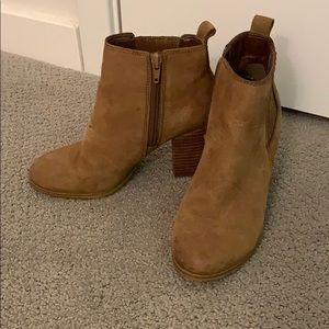 ALDO Brown Suede Ankle Booties 6